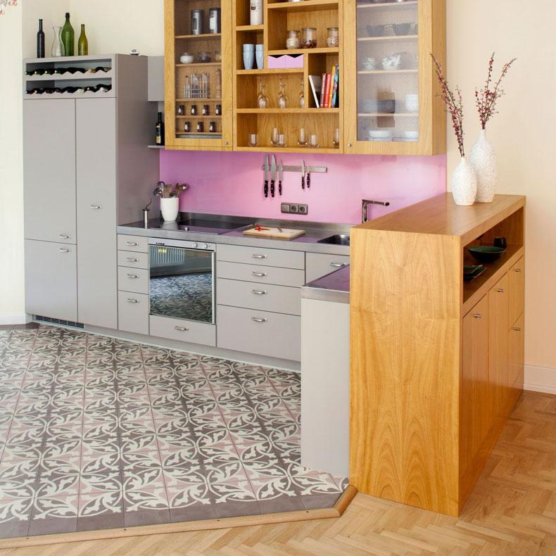 Altbau-Zitronenholzküche